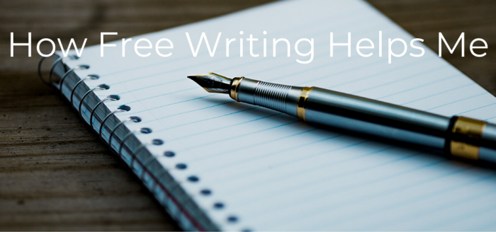How free writing helps me with stock photo of silver fountain pen and paper